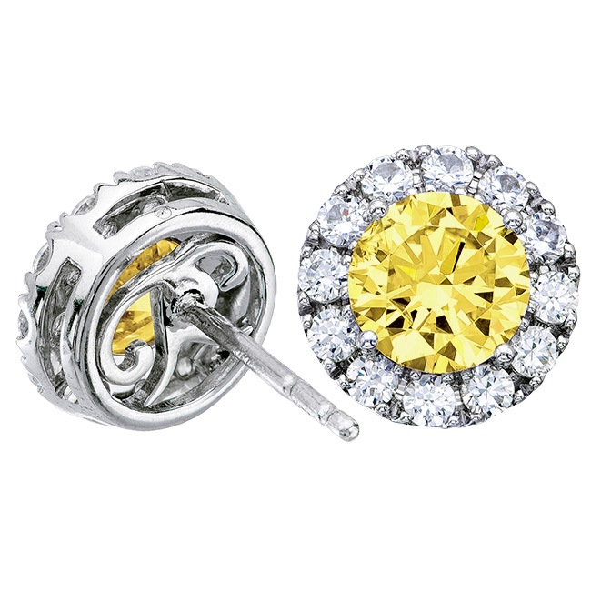 2 72 Tcwt Windsor Canary Yellow Earrings