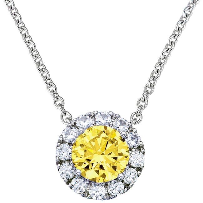 082 tcwt windsor canary yellow halo pendant aloadofball Image collections