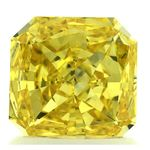 Canary Yellow Radiant Cut Renaissance Created Diamond 1.22 Ct.