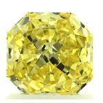 Canary Yellow Radiant Cut Renaissance Created Diamond 1.23 Ct.