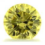 Yellow Round Created Diamond 1.22 Ct.