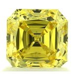 Canary Yellow Renaissance  Cut Renaissance Created Diamond 1.41 Ct.