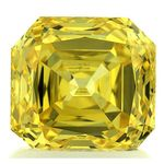 Canary Yellow Renaissance  Cut Renaissance Created Diamond 1.84 Ct.