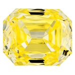 Canary Yellow Renaissance  Cut Renaissance Created Diamond 1.04 Ct.