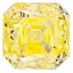 Canary Yellow Cushion Cut Renaissance Created Diamond 1.55 Ct.