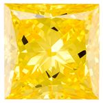 Canary Yellow Princess Cut Renaissance Created Diamond 1.47 Ct.