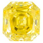 Canary Yellow Renaissance  Cut Renaissance Created Diamond 1.69 Ct.