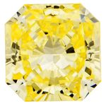 Canary Yellow Radiant Cut Renaissance Created Diamond 0.96 Ct.