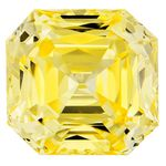 Canary Yellow Renaissance  Cut Renaissance Created Diamond 1.57 Ct.