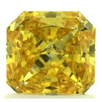 Canary Yellow Radiant Cut Renaissance Created Diamond 1.13 Ct.
