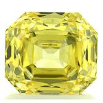 Canary Yellow Renaissance  Cut Renaissance Created Diamond 1.78 Ct.