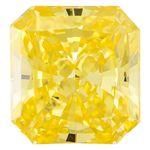 Canary Yellow Radiant Cut Renaissance Created Diamond 1.54 Ct.