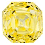Canary Yellow Renaissance  Cut Renaissance Created Diamond 1.55 Ct.