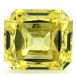 Canary Yellow Renaissance  Cut Renaissance Created Diamond 1.86 Ct.