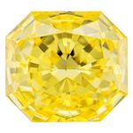 Canary Yellow Radiant Cut Renaissance Created Diamond 1.11 Ct.
