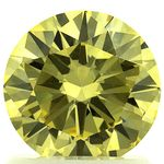 Canary Yellow Round Cut Renaissance Created Diamond 1.22 Ct.
