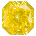 Canary Yellow Radiant Cut Renaissance Created Diamond 1.31 Ct.