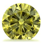 Canary Yellow Round Cut Renaissance Created Diamond 1.15 Ct.