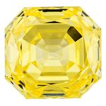 Canary Yellow Renaissance  Cut Renaissance Created Diamond 1.08 Ct.