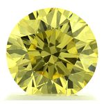 Canary Yellow Round Cut Renaissance Created Diamond 1.19 Ct.
