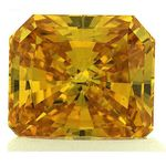 Vivid Orange Yellow Renaissance Cut Created Diamond 1.19 Ct.