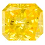 Yellow Radiant Cut Created Diamond 1.95 Ct.