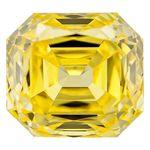 Canary Yellow Renaissance  Cut Renaissance Created Diamond 1.62 Ct.