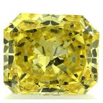 Canary Yellow Radiant Cut Renaissance Created Diamond 1.3 Ct.