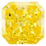 Canary Yellow Radiant Cut Renaissance Created Diamond 1.29 Ct.
