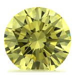 Canary Yellow Round Cut Renaissance Created Diamond 1.36 Ct.