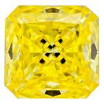 Canary Yellow Radiant Cut Renaissance Created Diamond 1.01 Ct.