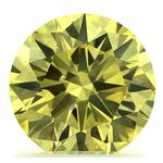 Canary Yellow Round Cut Renaissance Created Diamond 1.34 Ct.