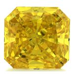 Canary Yellow Radiant Cut Renaissance Created Diamond 2.01 Ct.