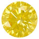 Canary Yellow Round Cut Renaissance Created Diamond 1.54 Ct.