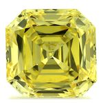 Canary Yellow Renaissance  Cut Renaissance Created Diamond 1.66 Ct.