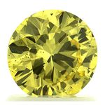 Canary Yellow Round Cut Renaissance Created Diamond 1.1 Ct.
