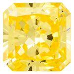 Canary Yellow Renaissance  Cut Renaissance Created Diamond 1.7 Ct.