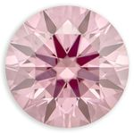 Pink Round Created Diamond 0.78 Ct.