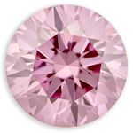Pink Round Created Diamond 0.96 Ct.