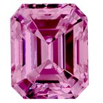 Pink Emerald Cut Created Diamond 1.22 Ct.