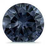 Blue Round Created Diamond 1.34 Ct.