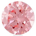 Bubble Gum Pink Round Created Diamond 0.53 Ct.