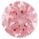 Bubble Gum Pink Round Created Diamond 0.37 Ct.