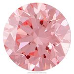 Bubble Gum Pink Round Created Diamond 0.74 Ct.