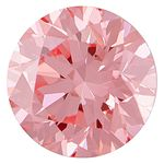 Bubble Gum Pink Round Created Diamond 0.77 Ct.