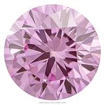 Crocus Pink Round Created Diamond 0.48 Ct.
