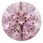Light Raspberry Pink Round Created Diamond 0.52 Cts.