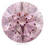 Light Raspberry Pink Round Created Diamond 0.89 Ct.