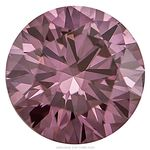 Grape Color Round Created Diamond 0.61 Ct.