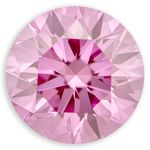 0.31 Ct.  Round  Bubble Gum Color Lab Grown Diamond  I(1) Clarity